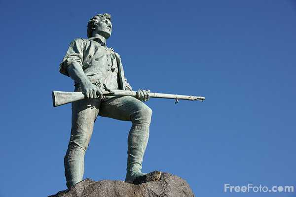 Picture of Minuteman Statue - Free Pictures - FreeFoto.com