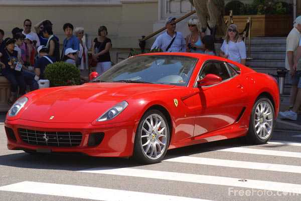 Picture of Red Ferrari Sports Car - Free Pictures - FreeFoto.com