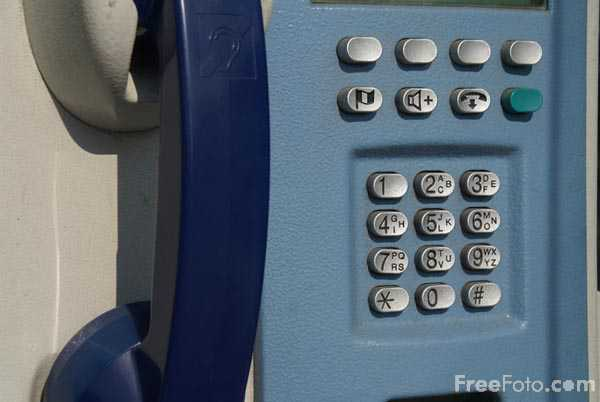 Picture of public telephone keypad - Free Pictures - FreeFoto.com
