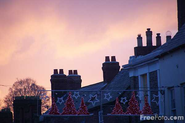 Picture of Rooftops at Sunset - Free Pictures - FreeFoto.com