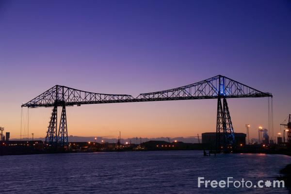 Picture of Middlesbrough Transporter Bridge - Free Pictures - FreeFoto.com