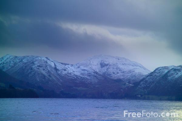 Picture of Place Fell dusted with snow - Free Pictures - FreeFoto.com