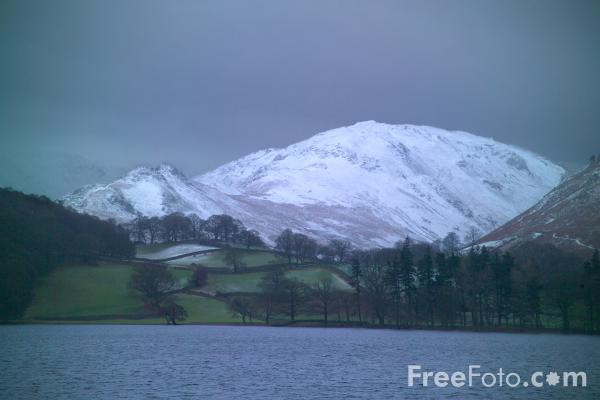 Picture of Barton Fell dusted with snow - Free Pictures - FreeFoto.com