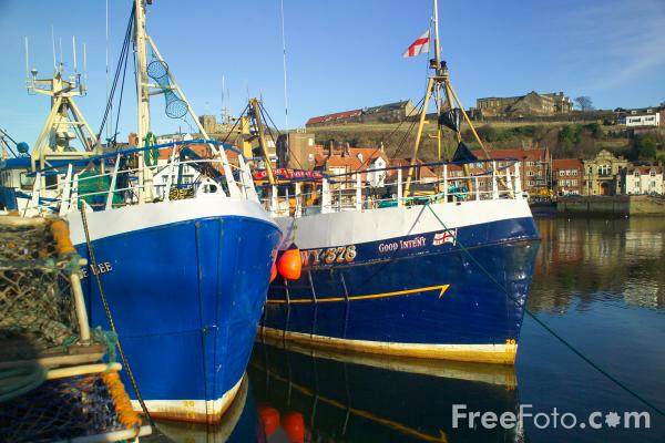 Picture of Whitby Harbour - Free Pictures - FreeFoto.com