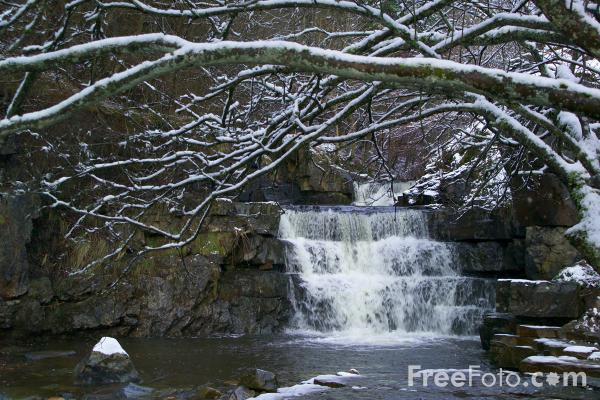 Picture of Winter Waterfall - Free Pictures - FreeFoto.com