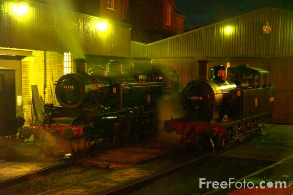 Picture of Steam Locomotives at Haworth - Free Pictures - FreeFoto.com
