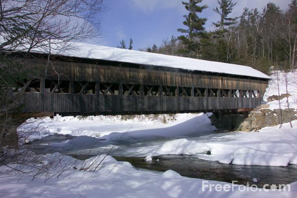 Picture of Albany Covered Bridge, Albany, New Hampshire - Free Pictures - FreeFoto.com