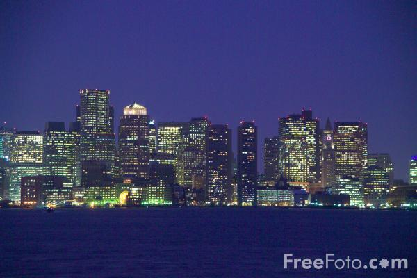 Picture of Boston Skyline, MA, USA - Free Pictures - FreeFoto.com