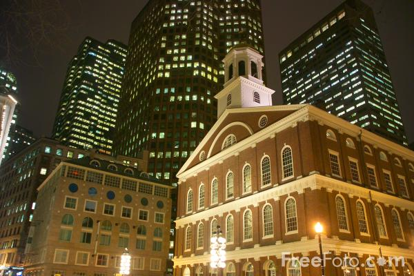 Picture of Faneuil Hall, Boston - Free Pictures - FreeFoto.com