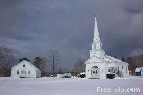 Picture of Canterbury United Community Church, Canterbury, New Hampshire - Free Pictures - FreeFoto.com