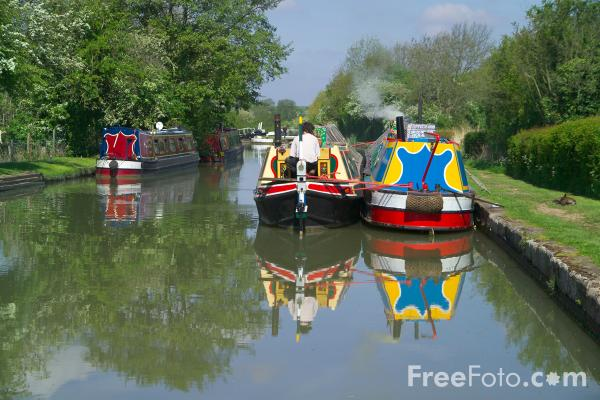 Picture of Grand Union Canal, Fosse Wharf, Warwickshire - Free Pictures - FreeFoto.com
