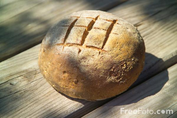 Picture of Freshly Baked Traditional Bread - Free Pictures - FreeFoto.com