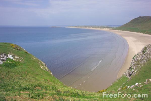 Picture of Rhossili Bay, The Gower Peninsula - Free Pictures - FreeFoto.com