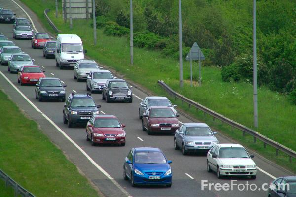 Picture of Rush Hour, A1 Western Bypass - Free Pictures - FreeFoto.com