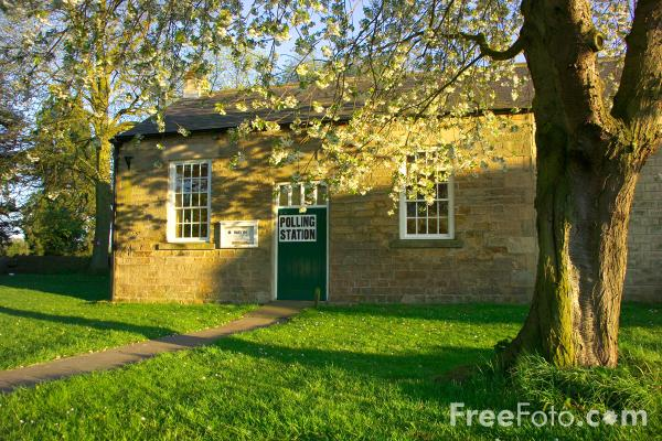 Picture of Polling Station, Whorlton, County Durham - Free Pictures - FreeFoto.com