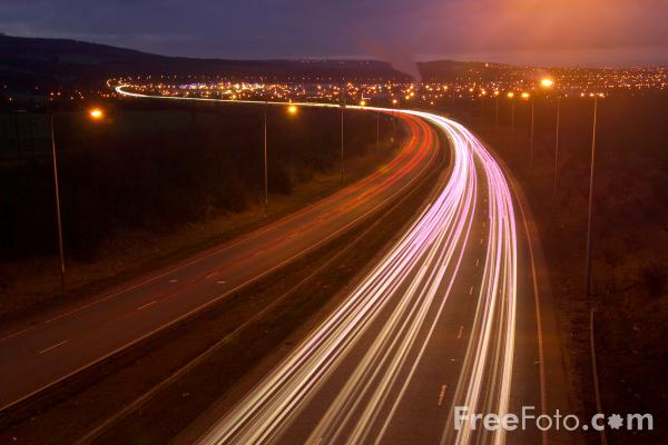 Picture of A1 Western Bypass, Gateshead, England - Free Pictures - FreeFoto.com