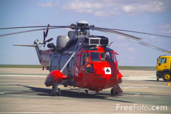 Picture of Air Sea Rescue Helicopter, Royal Naval Air Station, Culdrose - Free Pictures - FreeFoto.com