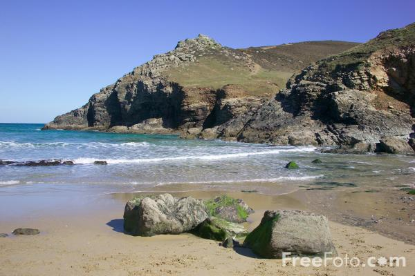 Picture of Chapel Porth Beach, Cornwall - Free Pictures - FreeFoto.com