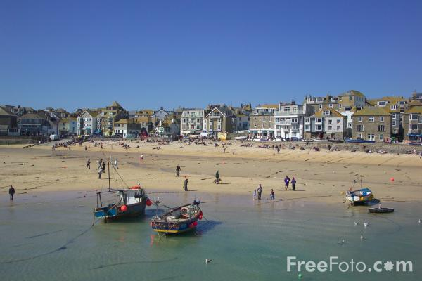 Picture of Harbour, St Ives, Cornwall - Free Pictures - FreeFoto.com
