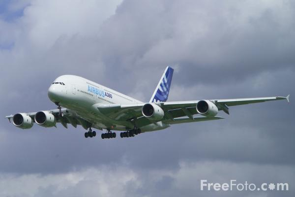 Picture of Airbus A380 London Heathrow Airport - Free Pictures - FreeFoto.com