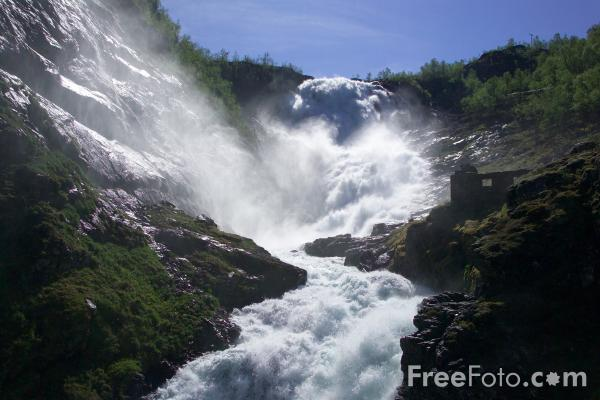 Picture of Kjos Waterfall, Norway - Free Pictures - FreeFoto.com