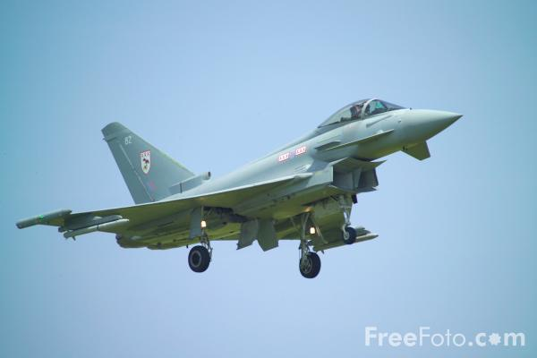 Picture of Royal Air Force RAF Typhoon F1 - Free Pictures - FreeFoto.com