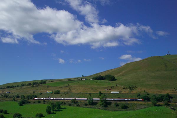 Picture of Train running through the Lune Valley - Free Pictures - FreeFoto.com