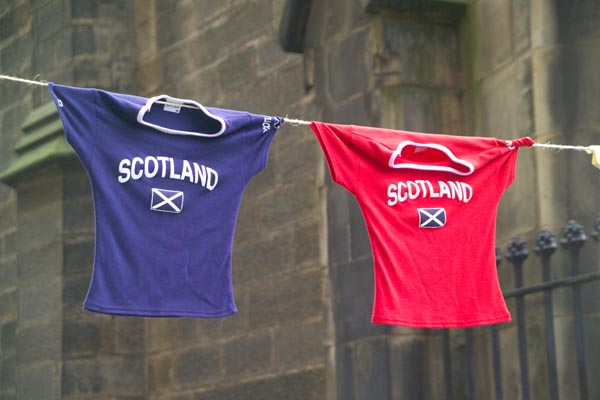 Picture of Scotland hanging on the line - Free Pictures - FreeFoto.com