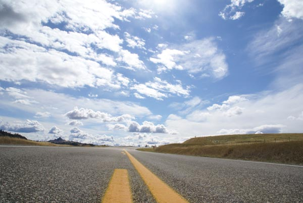 Picture of Straight Road, Montana - Free Pictures - FreeFoto.com