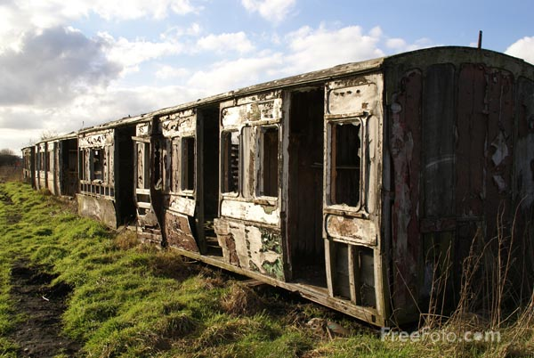 Picture of Derelict Railway Coach - Free Pictures - FreeFoto.com