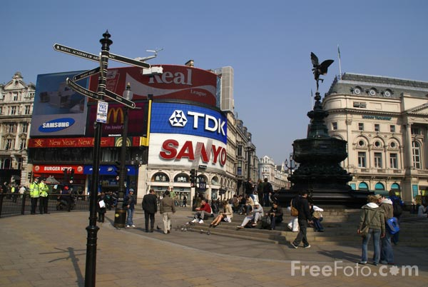 Picture of Piccadilly Circus, London, England - Free Pictures - FreeFoto.com