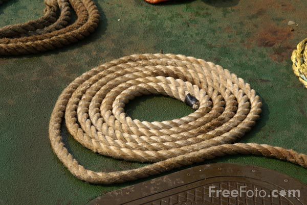 Picture of Coil of rope - Free Pictures - FreeFoto.com