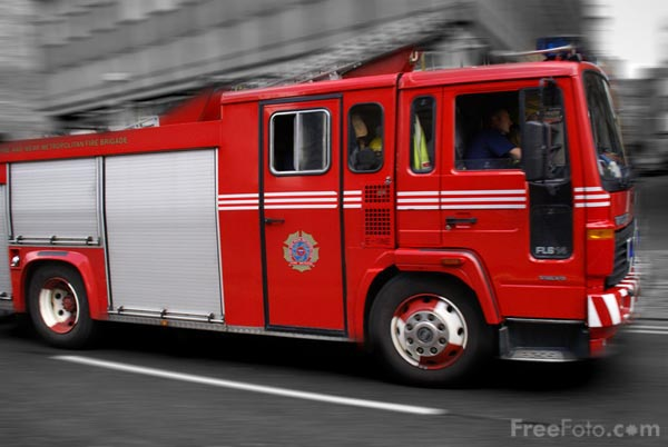 Picture of 911 emergency fire truck - Free Pictures - FreeFoto.com