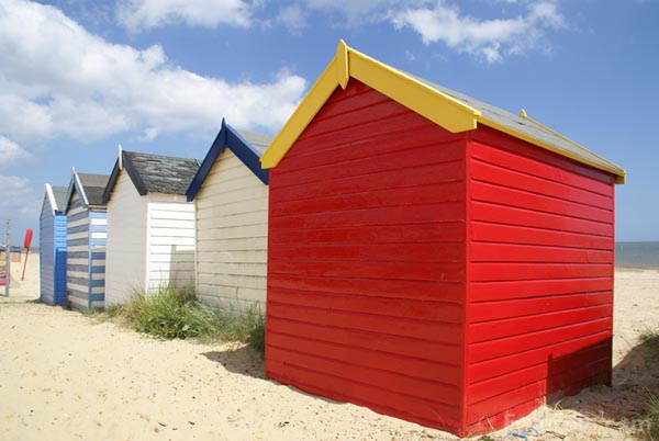 Picture of Beach Huts, Southwold, Suffolk - Free Pictures - FreeFoto.com