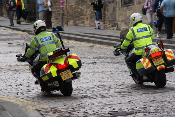 Picture of Police Motorcycles - Free Pictures - FreeFoto.com