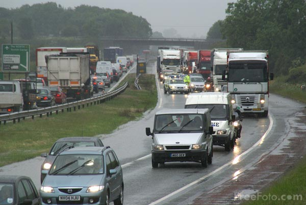 Picture of Torrential rain hits North Yorkshire - Free Pictures - FreeFoto.com