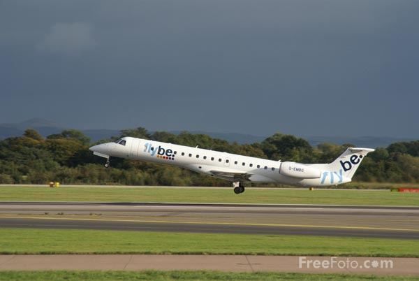 Picture of Flybe Embraer ERJ 145 - Free Pictures - FreeFoto.com