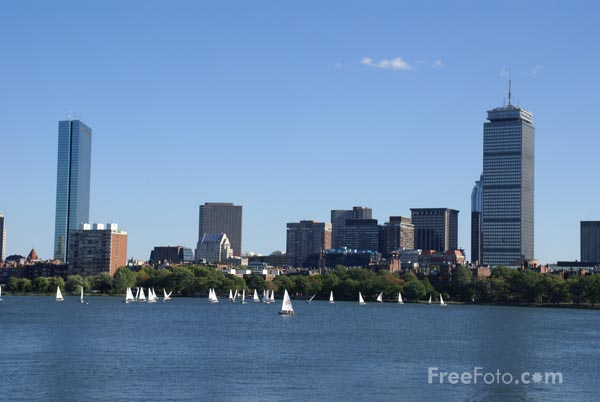 Picture of Boston skyline - Free Pictures - FreeFoto.com