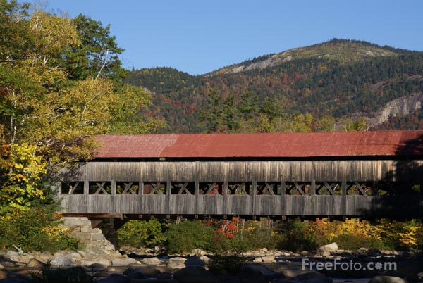 Picture of Albany Covered Bridge - Free Pictures - FreeFoto.com