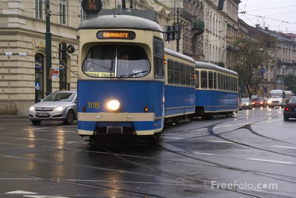 Picture of Trams, Krakow, Poland - Free Pictures - FreeFoto.com