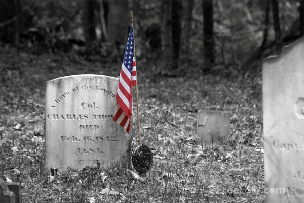 Picture of American Revolution grave stone - Free Pictures - FreeFoto.com