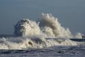 Giant waves on the seafront at Seaham, County Durham has been viewed 8490 times
