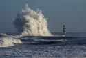 Giant waves on the seafront at Seaham, County Durham has been viewed 16424 times