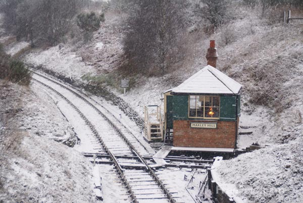 Picture of Tanfield Railway in the snow - Free Pictures - FreeFoto.com