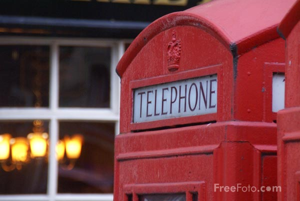 Picture of Red Telephone Box - Free Pictures - FreeFoto.com