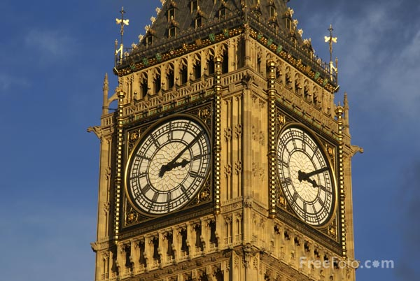 Picture of Big Ben, Palace of Westminster, London - Free Pictures - FreeFoto.com