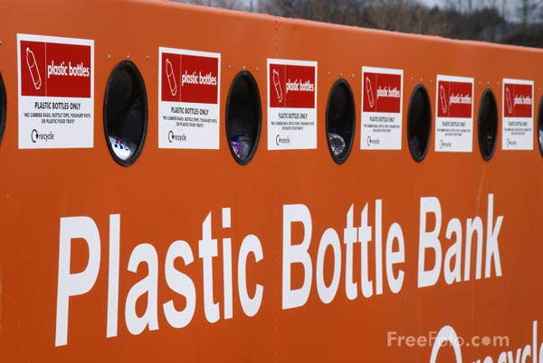 Picture of Plastic Bottle Bank - Free Pictures - FreeFoto.com