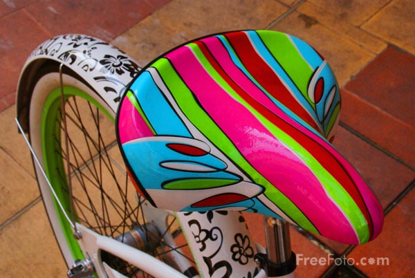Picture of Multi-coloured Bicycle - Free Pictures - FreeFoto.com