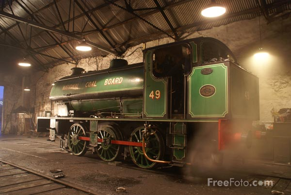 Picture of Robert Stephenson & Hawthorns 0-6-0ST NCB number 49 - Free Pictures - FreeFoto.com
