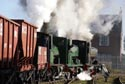 Image Ref: 9908-10-5951 - Triple headed steam locomotives hauling a coal train, Viewed 4732 times